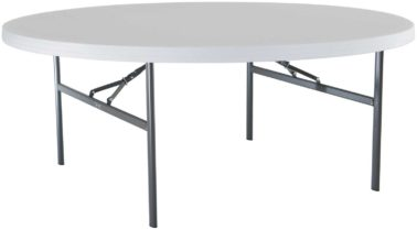 Lifetime 60 In Round Fold In Half Folding Table Hayneedle within proportions 1600 X 1600